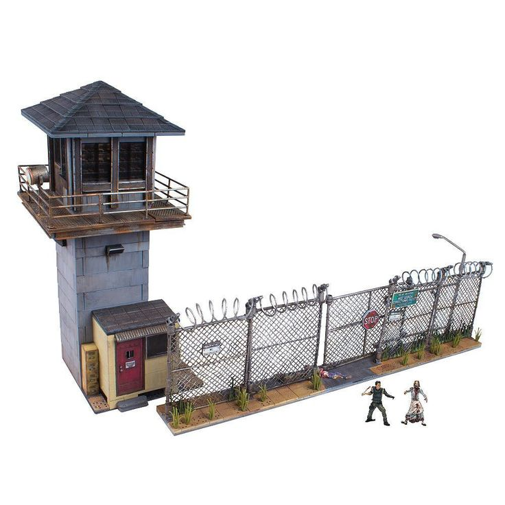 The Walking Dead Building Sets: Prison Tower & Gate