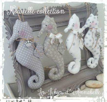 """Bientôt Nouvelle Collection de décoration Shabby Chic """"Hippocampe"""". Idéal pour…"""