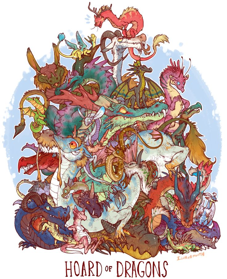 HOARD OF DRAGONS PRINT · IGUANAMOUTH · Online Store Powered by Storenvy