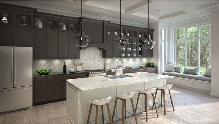 The contemporary kitchen at 19 Glen Agar Dr, Etobicoke , Toronto, ON a new development project by Minto | REW.ca
