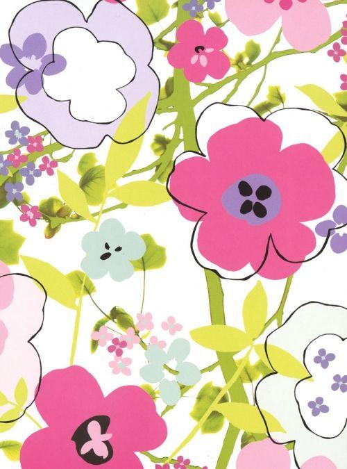 Floral Composition Trompe L'oeil mural wallpaper, 4 part