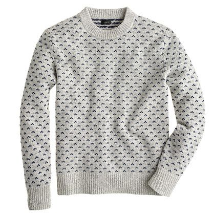 With Scandinavia design being the rage right now it is no shock that this Nordic dot sweater is also inspired by it. -JC