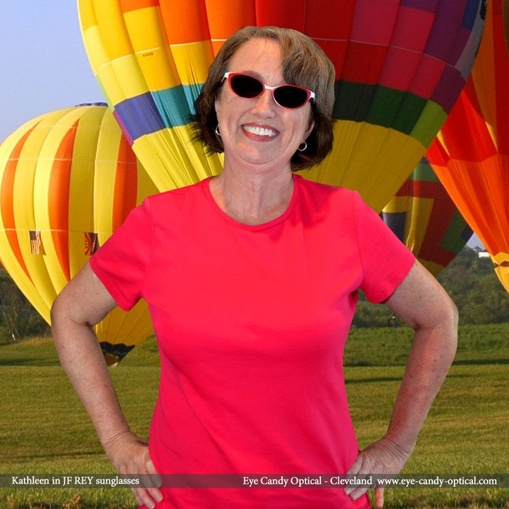 Kathleen sports an adventurous look wearing her new bold BOZ designer sunglasses by J.F. Rey. Eye Candy – Come and Get Carried Away to the Finest European Eyewear Fashion! Eye Candy Optical Cleveland – The Best Glasses Store! (440) 250-9191 - Book an Eye Exam Online or Over the Phone  www.eye-candy-optical.com www.eye-candy-optical.com/Contact/sign_up - Join our mailing list