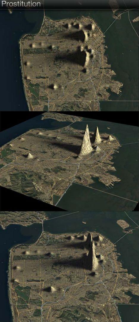 Criminal Contours: Crime Rates as Topographic Maps [Prostitution Peak in San Francisco]