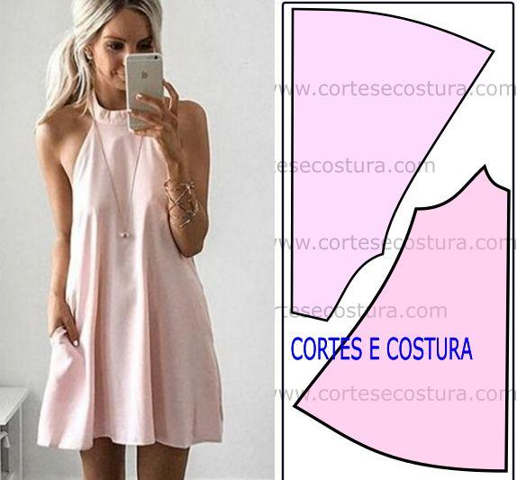 Este modelo de vestido é muito apreciado pelas mulheres por essa razão fica aqui a transformação deste molde de vestido godé.
