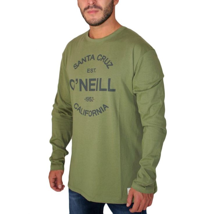 O'NEILL,Ανδρική χακί μακρυμάνικη μπλούζα, regular fit