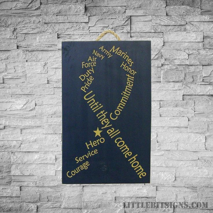 Until They All Come Home, Military Ribbon, Military Wood Sign, SKU-876
