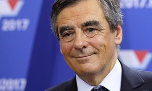François Fillon after finishing first in the first round of the rightwing presidential primary.