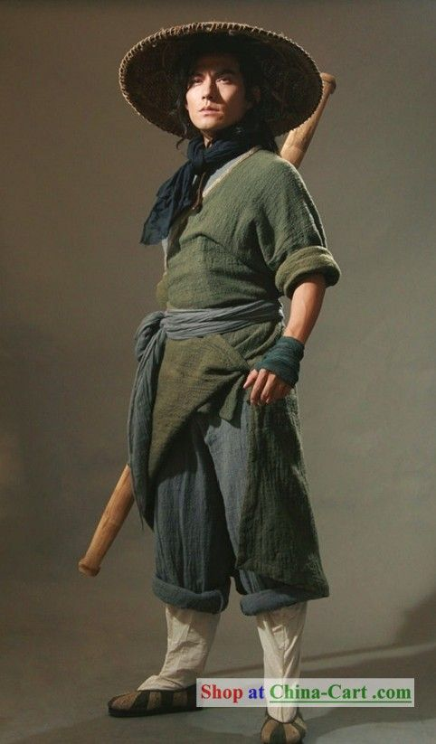 Outlaws of the Marsh Opera Ancient Chinese Kung Fu Men Costumes and Hat. Ancient Chinese Costumes