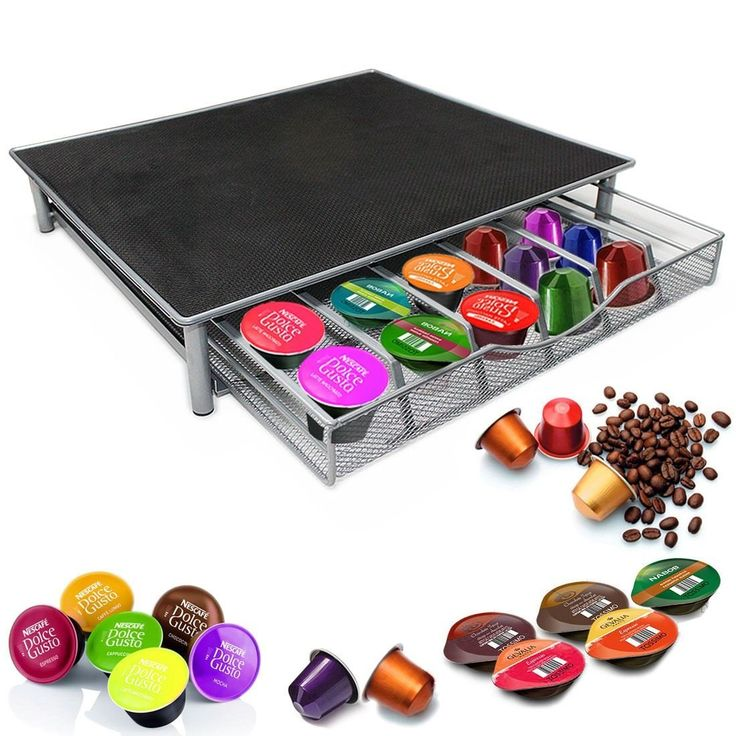 Garden Mile® Dolce Gusto Coffee Pod Holder,Stacking 36 Capsule Coffee Pod Storage Drawer ,Stainless Steel Frame With Anti Vibration Non Slip Surface,dolce gusto coffee pod stand in Black: Amazon.co.uk: Kitchen & Home