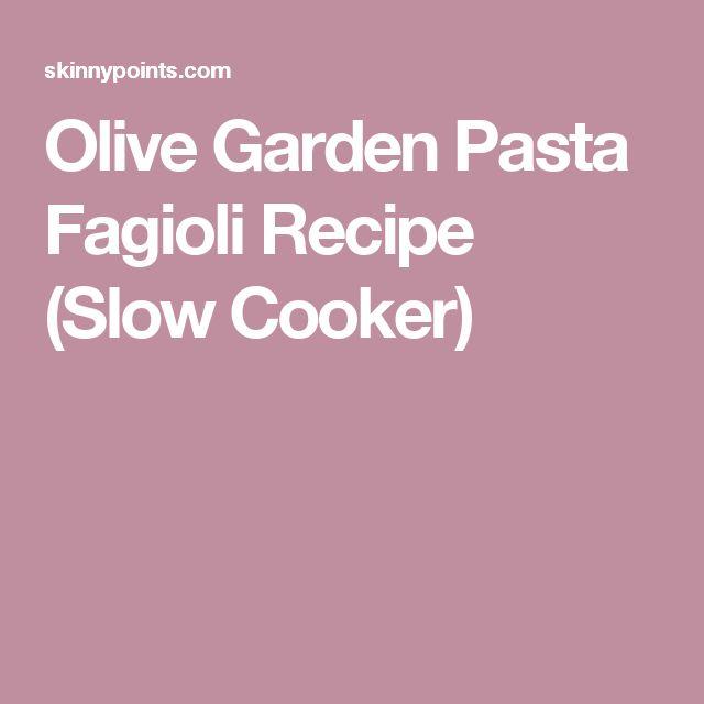 Olive Garden Pasta Fagioli Recipe (Slow Cooker)