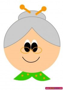 grandmother craft with template (1)
