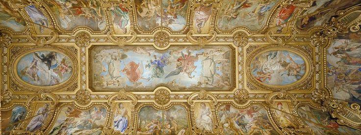 Les foyers, des voûtes dorées dédiées aux muses… | Palais Garnier