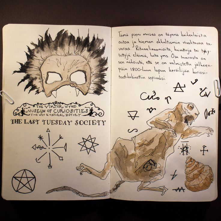 From sketchbook of Petri Fills. #sketchbook #drawing #museum #curiosities