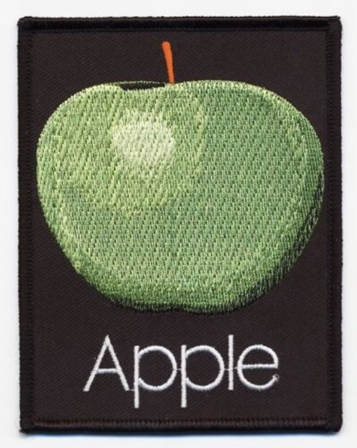 THE BEATLES Apple Records Woven Patch Iron On Official Band Merch (New)