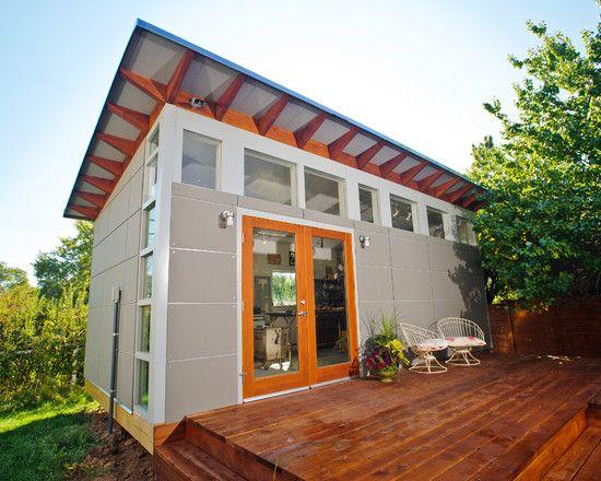 Best 25 prefab sheds ideas on pinterest modern shed for Prefab garage with studio