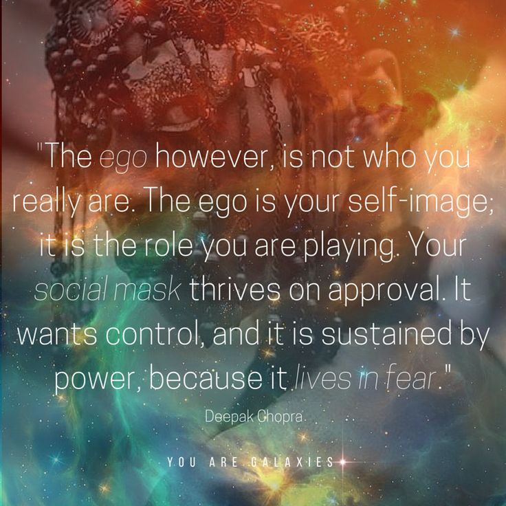 The ego however, is not who you really are. The ego is your self-image; it is…