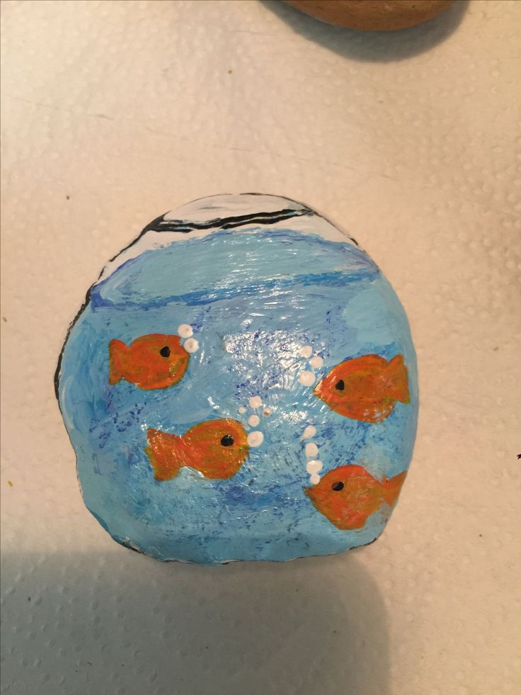 Fishbowl Painted Rock kindnessrocks!