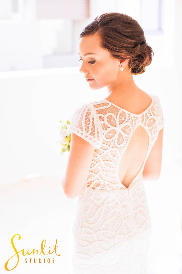 Noosa Waterfront Wedding photo - Intricate wedding gown. Photography by Sunshine Coast Wedding Photographers, Sunlit Studios