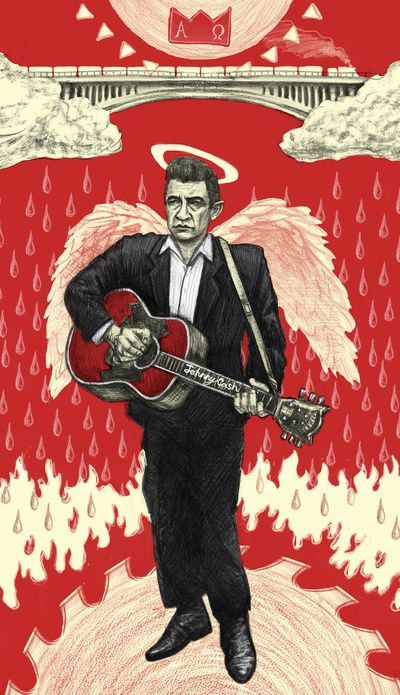 "Johnny Cash ""Ain't No Grave"" Poster Art Print by Aaron Kapper Illustrations 