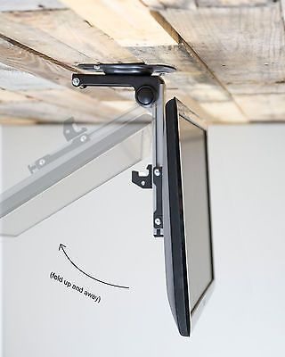 Folding Flip Down Pitched Roof Ceiling Mount for LCD Flat TV & Monitors upto 37""