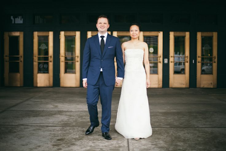 Bride and groom outside of Union Station after their first look - Mark Nagel Portraits: Kansas City Wedding Photography