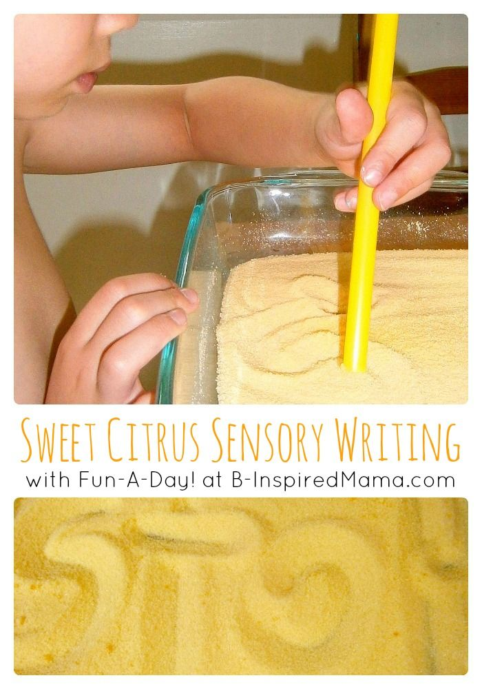Sweet Citrus Sensory Tray [Contributed by Fun-A-Day!] - #kids #preschool