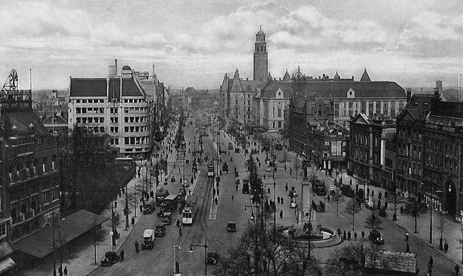 In de loop der jaren: De Coolsingel Rotterdam ca. 1935