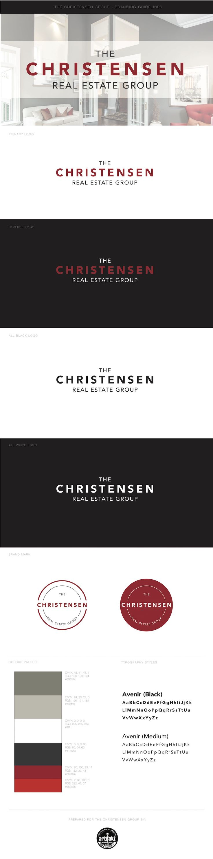 The completed updated branding guidelines we did for The Christensen Real Estate Group.