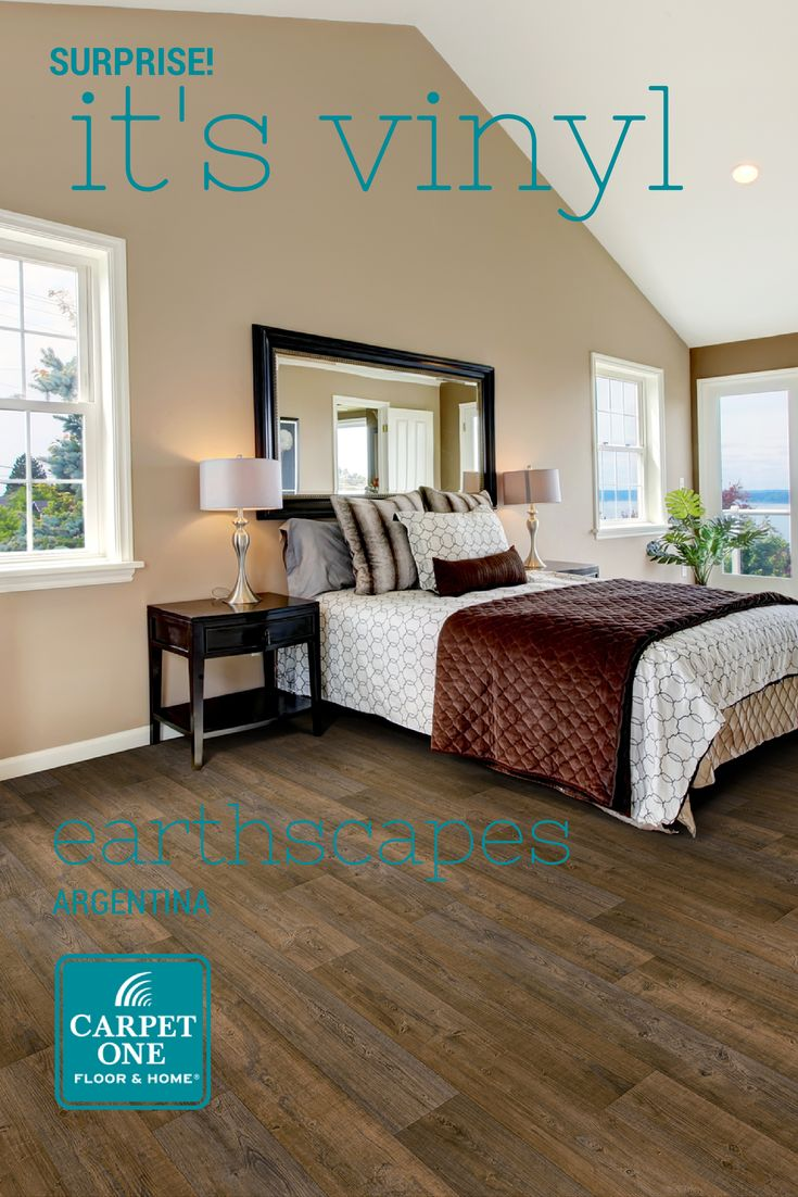 Today's vinyl floors are so amazing they can look like beautiful natural hardwood!