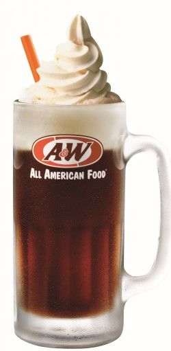 Traditionally made with VANILLA ICE CREAM and ROOT BEER, but can also be made with other flavors.  In the United States and Canada, the chain A&W Restaurants are well known for their root beer floats.