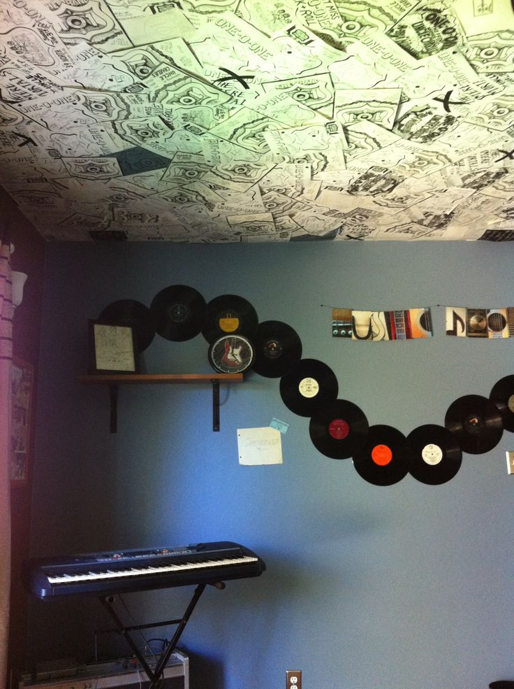 Cool music room décor. Something simple like this...