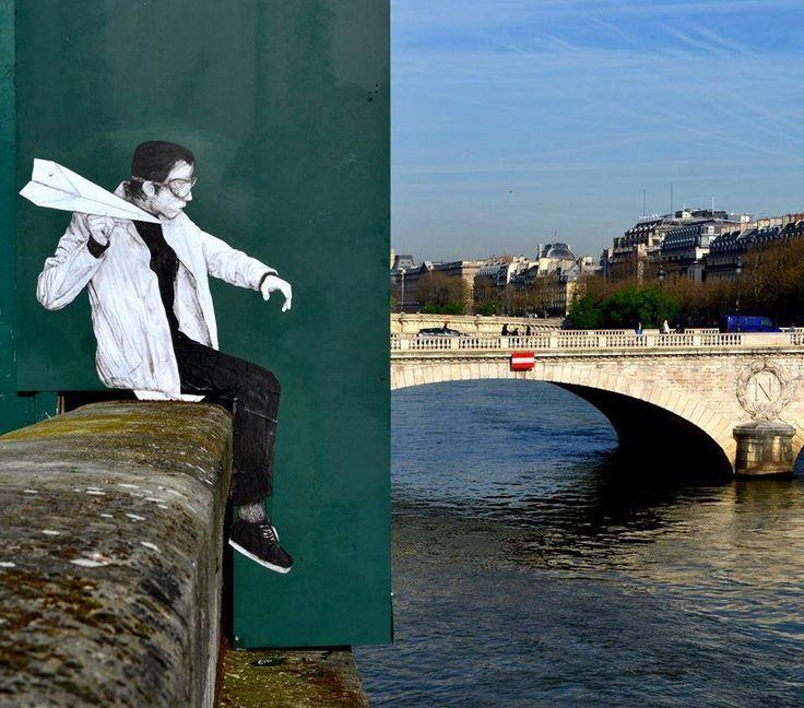 street art. Levalet, Paris