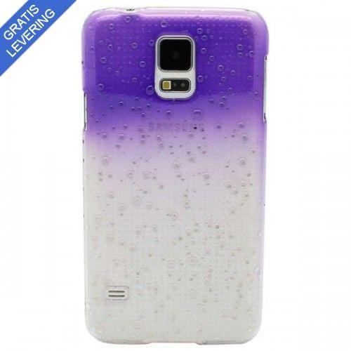 Lilla Samsung Galaxy S5 Cover - Vanddråbe Design