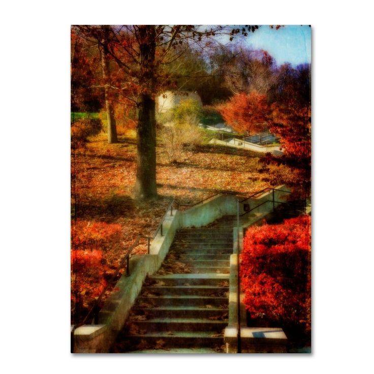Lois Bryan 'Autumn Stairway' Art
