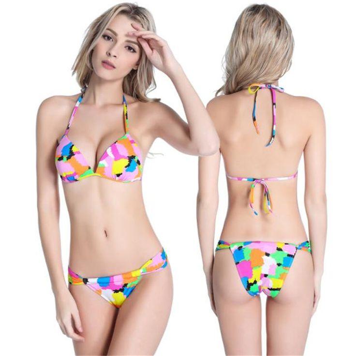 Sexy Bandage Bikini Set Bandeau Push-Up Padded Bra Swimsuit maillot de bain femme Swimsuit Lady Bathing suit