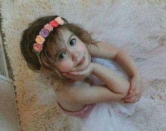 Corona de flores | parche de flores | Bodas | De boda | Bebé niña | Ducha de bebé | Accesorios para el cabello |