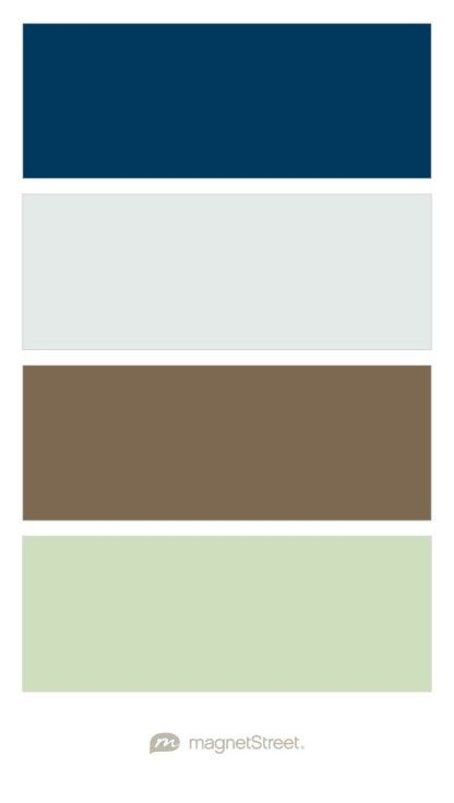 Navy Silvery Sage Latte And Pistachio Wedding Color Palette