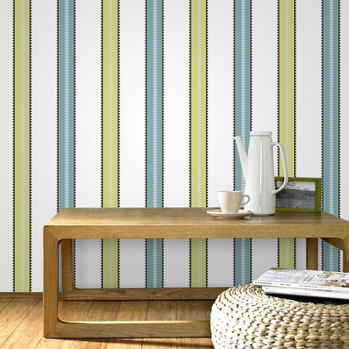 Die besten 25+ Green striped wallpaper Ideen auf Pinterest - gestreifte grne wnde
