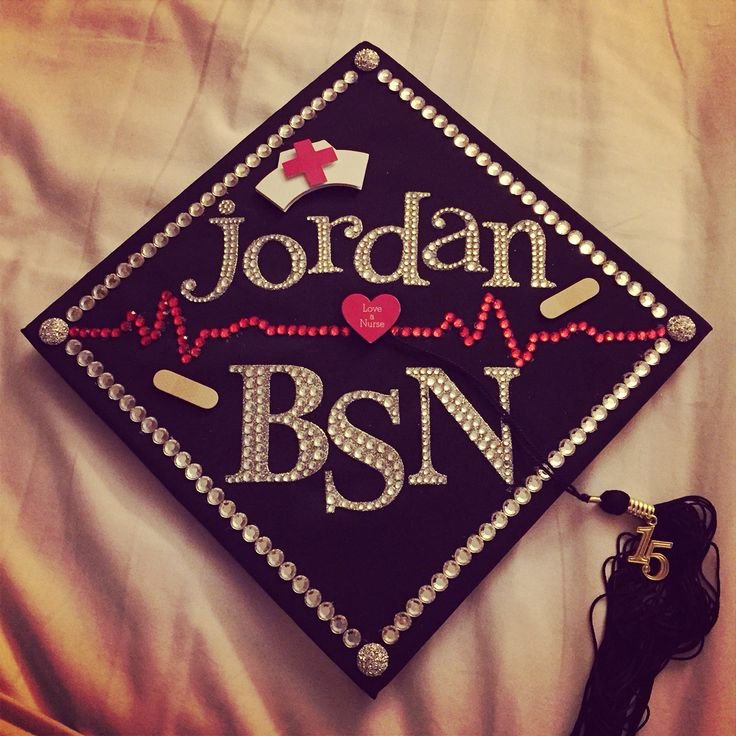 My graduation cap for nursing school! Get to wear this bad boy in less than 3 weeks!!