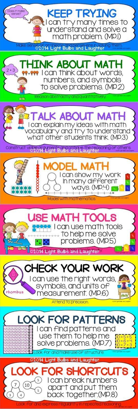 29 best Mathematical Practice (CCSSM) images on Pinterest | Teaching ...