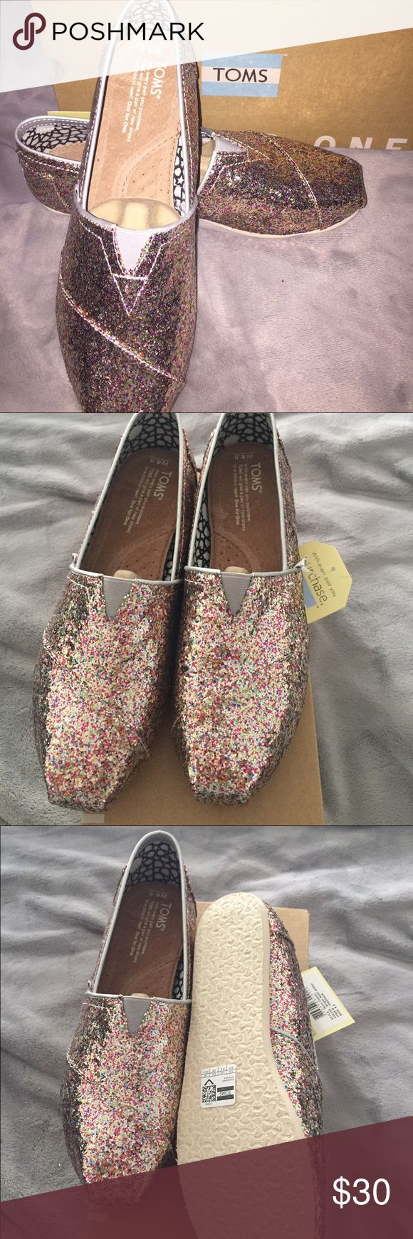 Toms Classic multi glitter slip-on BRAND NEW!! TOMS Shoes Flats & Loafers