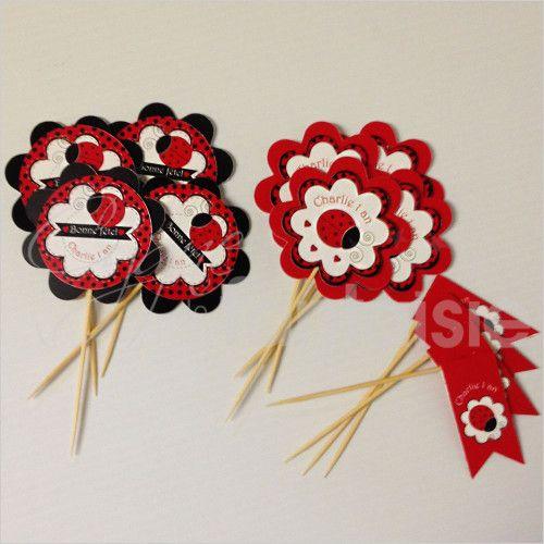 décorations cupcakes coccinelle - cygnedefantaisie.com