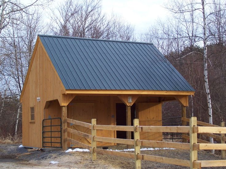Small Horse Barn Plans | Built A Small Two Stall W/ Loft. It Would