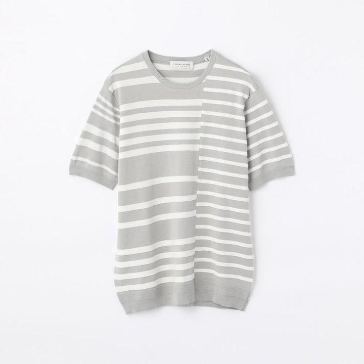 マルチストライプ ニットTシャツ(63026102028)   Tシャツ・カットソー   ウエア   メンズ   TOMORROWLAND   トゥモローランド 公式通販