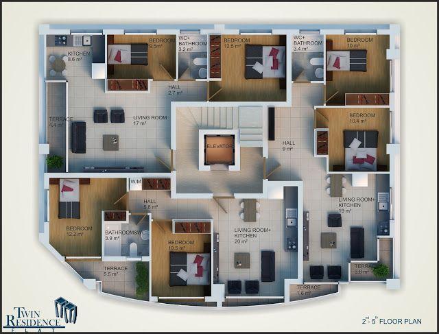 Top 3d Floor Plan Ideas Of 2018 3d Floor Plan Designs Render In 3d Max With Vray Modern Kitchen Interiors Interior Design Website Floor Plan Design