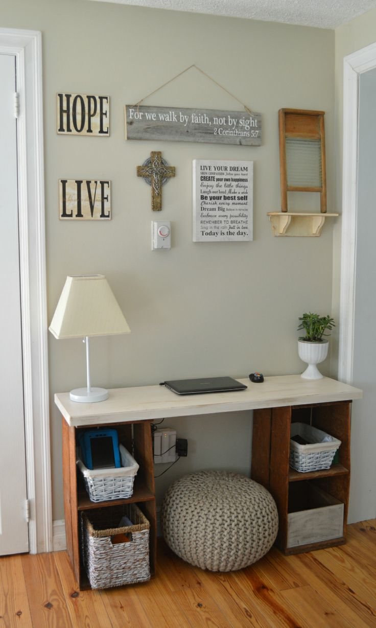 MsMoozys Open House: Crates Turned Rustic Desk
