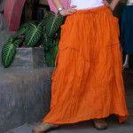 Оранжевая юбка в стиле бохо