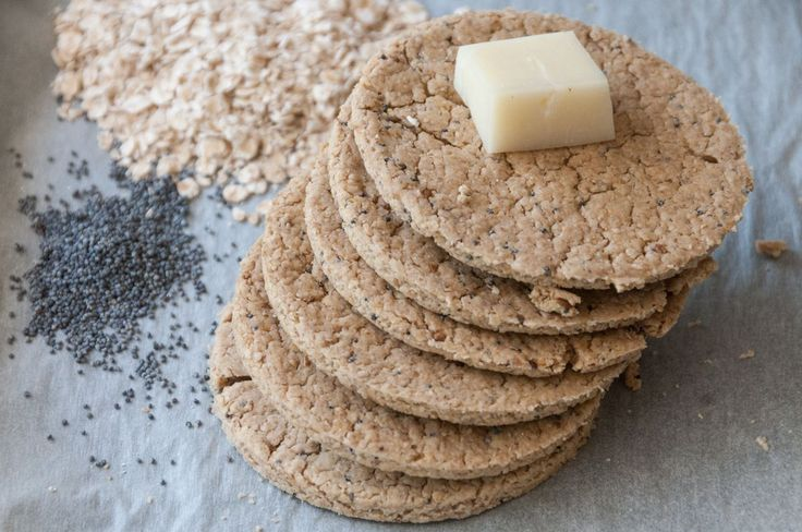 Delicious Oat Crackers.  They are crunchy and super healthy and you can serve them with any cheese you like!!!!