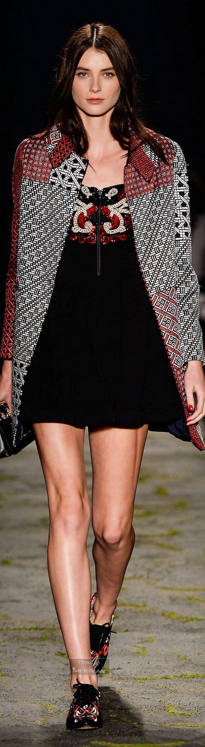Patricia Bonaldi ~ Fall Mini Dress w Coat, Black/Grey  2015